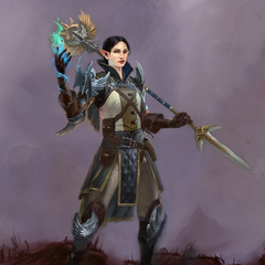 Artwork of Grey Warden Fiona from Heroes of Dragon Age.