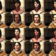 Wariacje wyglądu Bethany zależne od ustawień twarzy i odcienia skóry Hawke'a