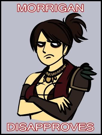 Image result for morrigan disapproves