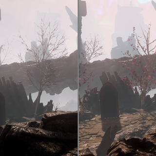 As seen by a human (left) and an elf (right) in Trespasser