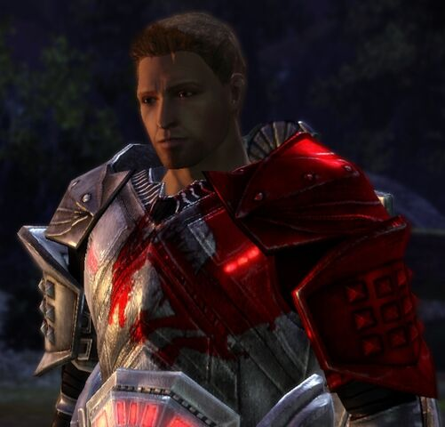 File:DAO Alistair w Blood Dragon Plate at Camp during Romance Scene.jpg