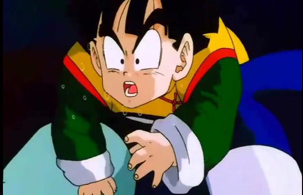 File:Gohan coughs up spit after geting kneed in the stomach.png