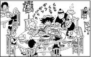 The Dragon Ball Gang have dinner