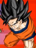 Extreme Butoden demo black hair SS Goku