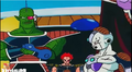 DXRD Caption of Mecha-Frieza commands King Cold's soldier Iru to kill Future Trunks (red haired Fisshi shown in the back) - Dragon Ball Z