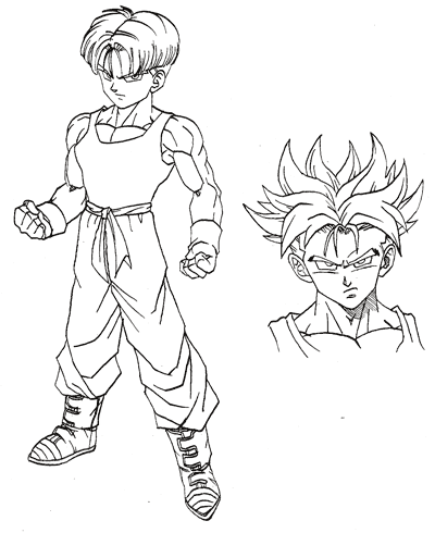 Image trunks at the end of dragon ball dragon - Comment dessiner trunks ...