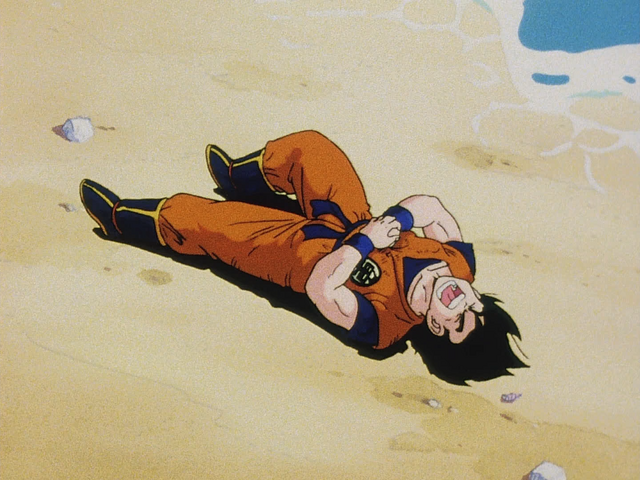 File:Goku attackated be raditz.png