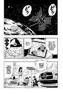 The Pilaf Gang spying on Goku and Grandpa Gohan's battle