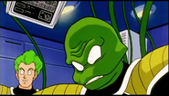 DXRD Caption of King Cold's Medical Team green fat alien and a humanoid build cyborg parts for Frieza