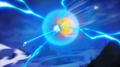 Fused Zamas' Holy Wrath vs Goku's God Kamehameha