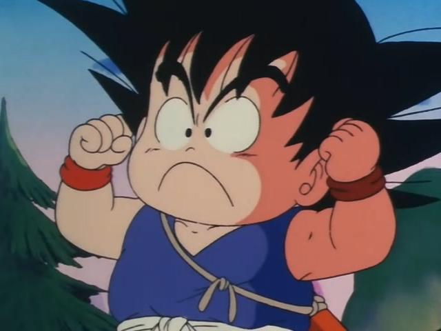 File:Goku acting tough.jpg