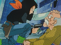 Android 17 putting a glock to the old man's face
