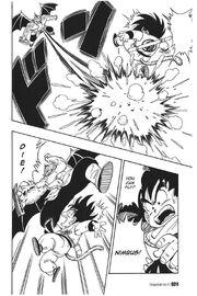 Tambourine destroys Goku's Flying Nimbus