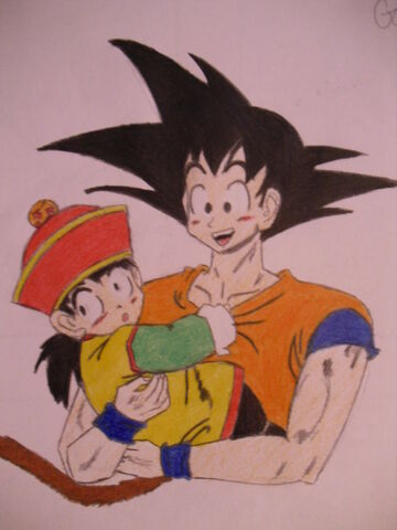 File:Goku and gohan by hatsuharuX3.jpg