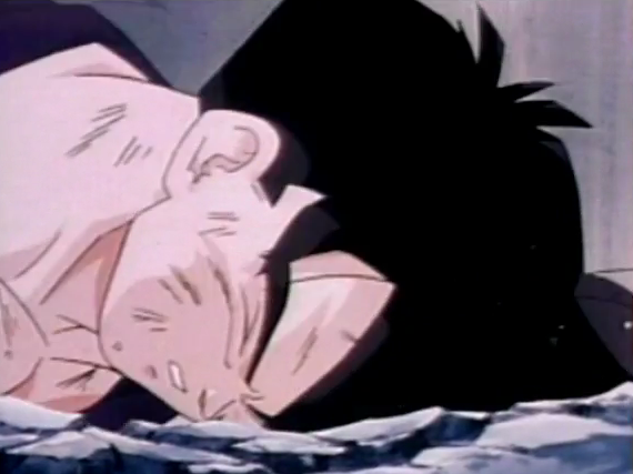 File:Gohan fells to ground dead and defeated after being killed by turles in plan to eadacte the saiyans5.png
