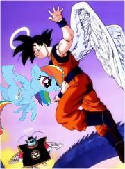 File:Goku hangin with rainbow dash.JPG