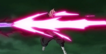 Goku Black fires a long ranged attack.