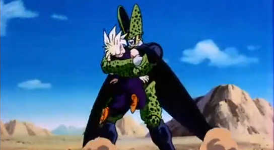 File:Android Explosion - Cell grabs Gohan.PNG