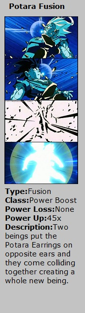 Card Potara Fusion