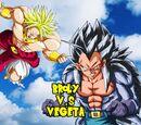 Broly vs Vegeta el despertar de Vegeta