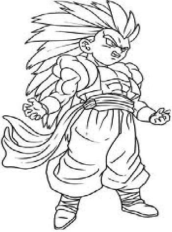 Dragon Ball Z Coloring Book Online : Warrior dragon ball coloring pages dragon.printable
