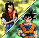 Dragon Ball Multiverse(Goku) Vs Android 17