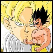 Dragon Ball Multiverse(Future Vegeta) Pissed At Goku(Super Saiyan)
