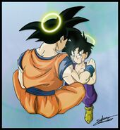 Dragon Ball Multiverse(Teen Gohan) Listening To His Father