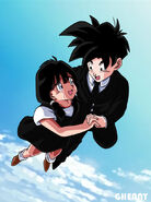 Dbz commission 44 gohan flying with videl by ghenny-da76sp7