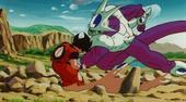 Cooler punching goku