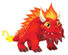 Flaming Rock Dragon 2