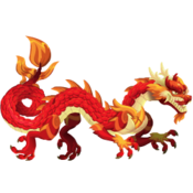 Red Asian Dragon 3