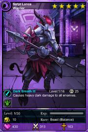 Satyr Lance Warrior