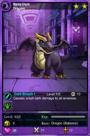 Baby dark dragon
