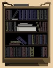 Ikeagold-antiquebookshelf
