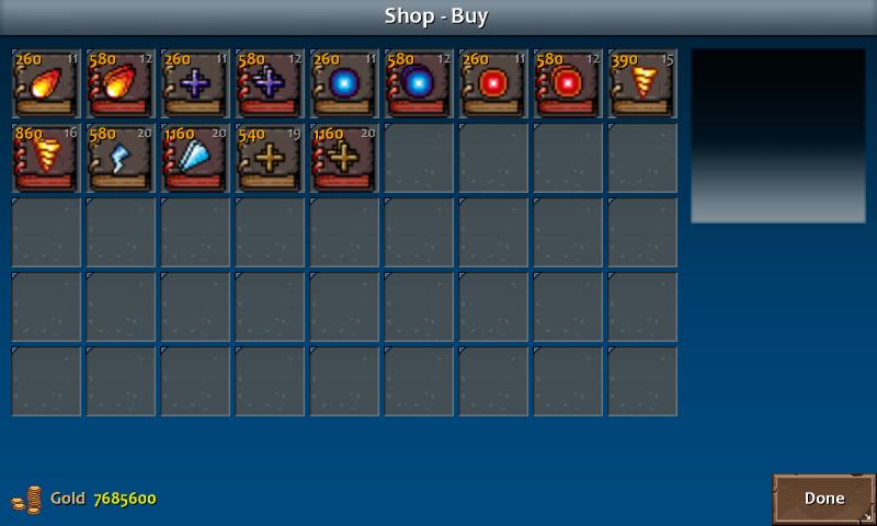 Shop 3 kera spells wiz