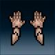 Sprite armor plate tarnished hands