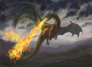 Dragons shooting fire