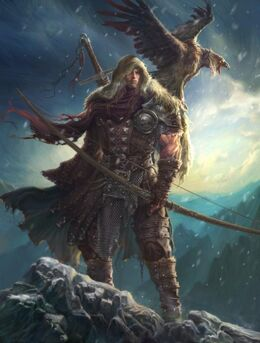 R169 457x256 11052 Winter is coming 2d illustration winter hunter archer warrior fantasy picture image digital art