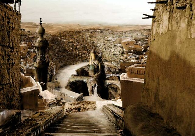 File:Desert fantasy city by Inkarnus.jpg
