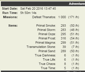 1000 forge adventure defeat thanatos tyche