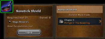 Nonstick shield