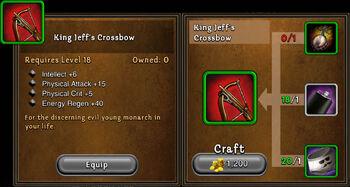 King jeffs crossbow