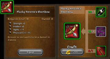 Plucky heroines shortbow