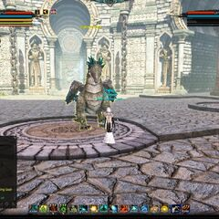 Shattered Rage spawned with a Draconic Flute (Clear Energy).