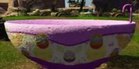 Pastel Easter Egg Bathtub