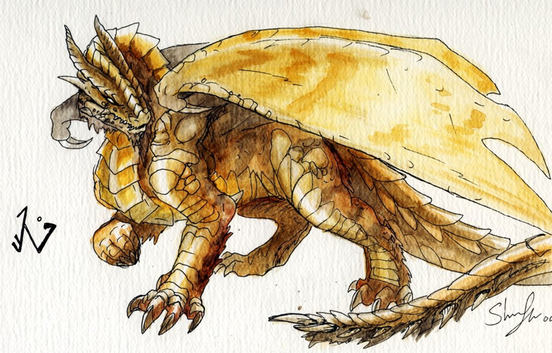 Golden Dragon by Redpyre