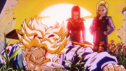 Trunks defeated by the Androids