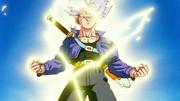 Trunks power up Super Saiyan