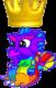 RainbowDragonBabyCrown